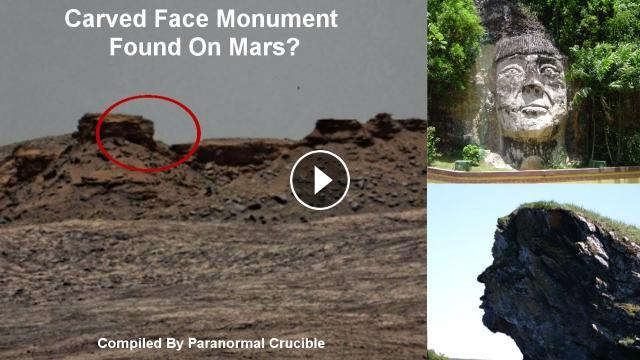 Carved face monument found on mars