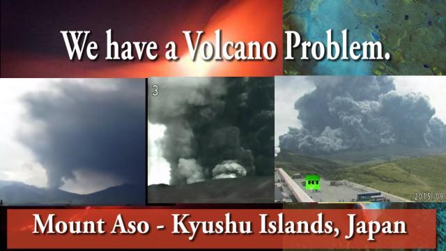 Japan's largest Volcano Erupts: Kyushu Islands
