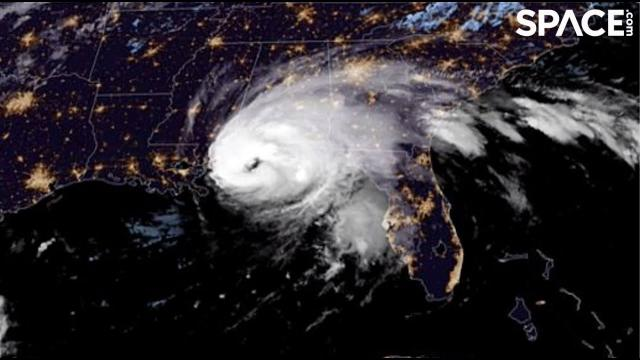 Category 2 Hurricane Sally makes landfall in stunning view from space