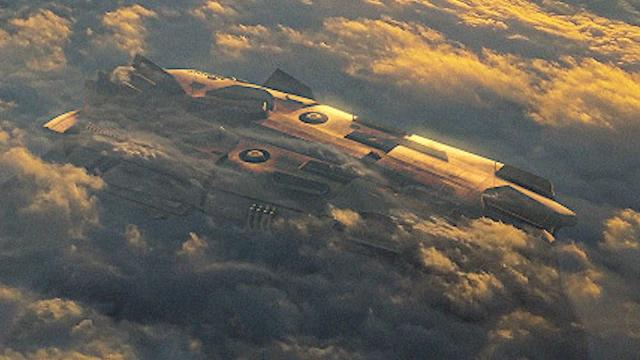 ???? Huge UFO Hidden in The Clouds Spotted From Airplane Over Pacific Ocean (CGI)