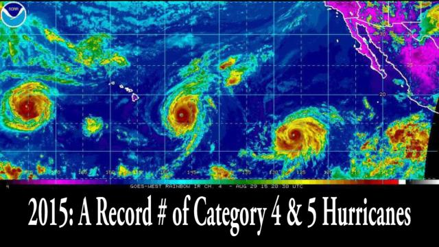 2015: A record number of Category 4 & 5 Hurricanes & Typhoons ?