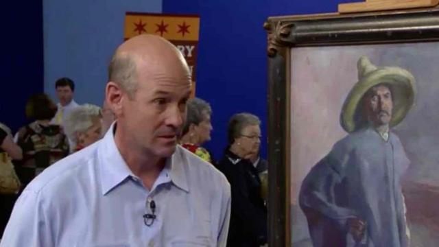 Man Spots Face Worth $1M In Old Office Painting