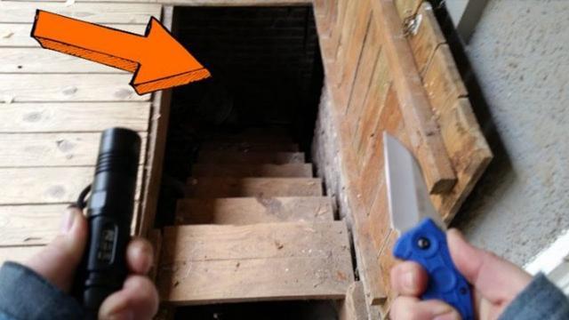 Man Finds Huge Furnace After Discovering Trap Door In Deck