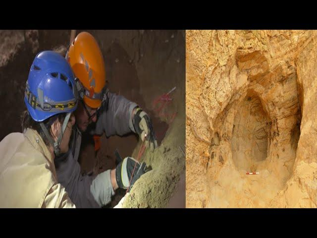 April 2020: Railway workers discover 14th century cave with medieval shrine
