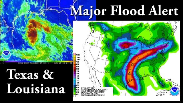 Major Flood Alert for TEXAS & LOUISIANA - Mega Moisture storm rollig in.