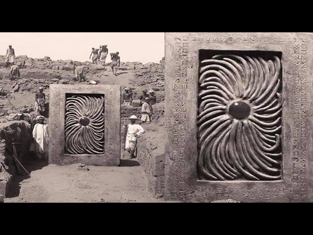 Ancient Portal unearthed in Samarkand by German archeologist in 1903