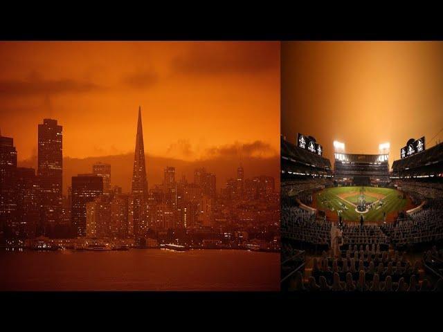 Unbelievable orange, skies seen all across San Francisco