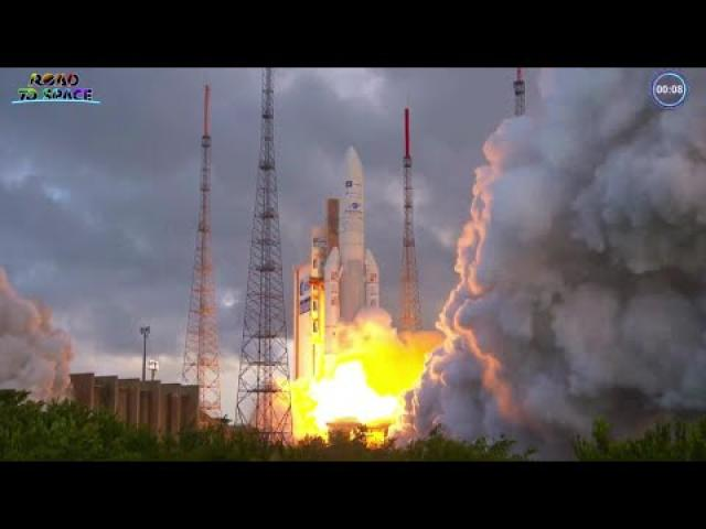 Ariane 5 rocket's first launch in nearly a year lofts comms satellites
