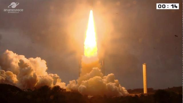 Ariane 5 rocket launches Eutelsat and Indian satellites