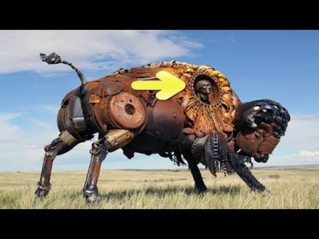 What This Guy Did With Old Scrap Metal Is Amazing Art