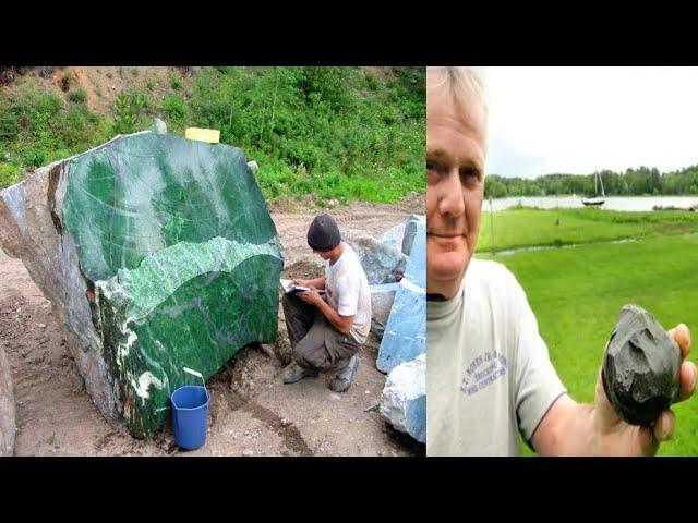 Man Discovers A Mysterious Green Rock Near His House