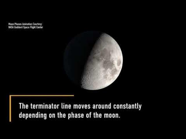 'All terminator' view created from waxing moon images