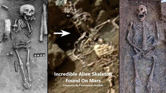 Incredible Alien Skeleton Found On Mars