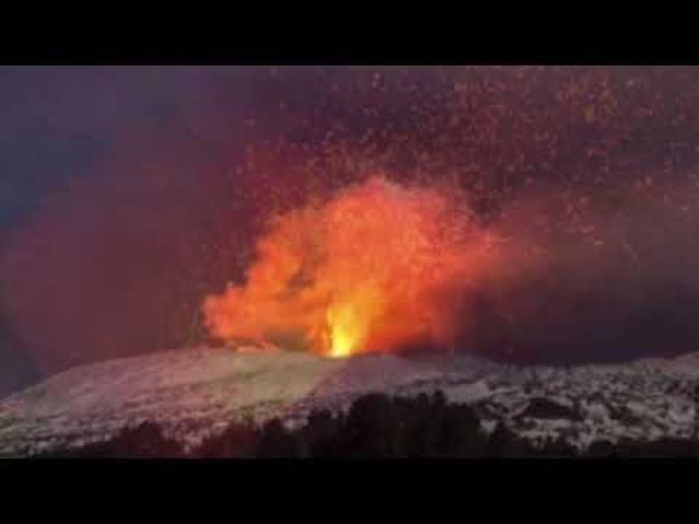 Mount Volcano Etna Erupts! & Storm destroys raised Highway Bridge in Italy