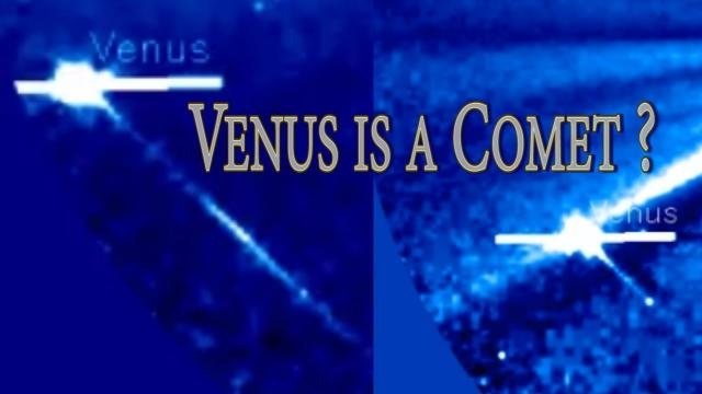 WTF? Planet Venus is a Comet? Her tail is kicking.