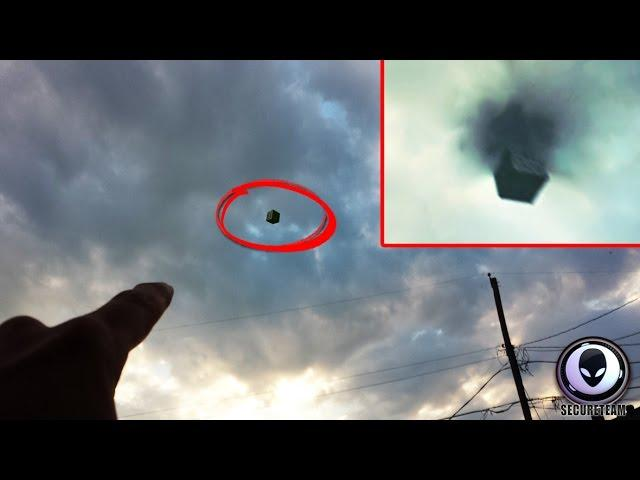 [MIND-BOGGLING] Black Portal & Alien Cube UFO Over Texas! 6/29/2015