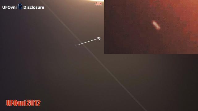 TELESCOPE SUN 4K: Of Course, a UFO FAST FAST Turns Around the Sun, Right Turn
