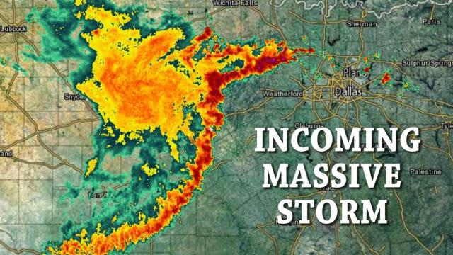 Massive Super Storm about to Strike North Texas