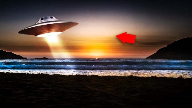 Huge Beams Of Light Coming Out From UFO Caught On Camera!!