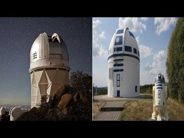 Superfan Professor Transforms Observatory into Giant R2 D2