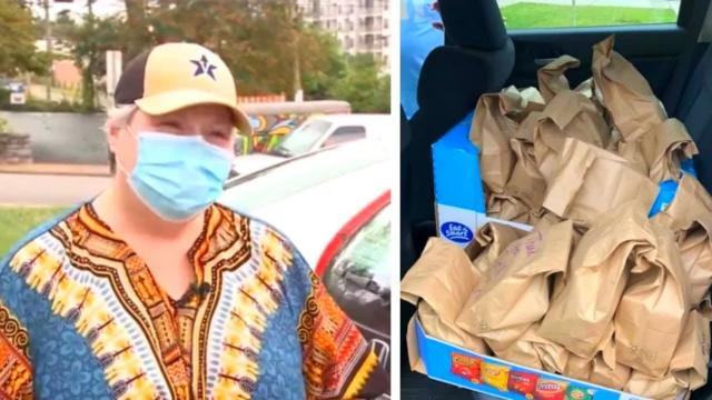 This Cancer Survivor Drives Ride-hail to Provide Lunches For Nashville's Homeless