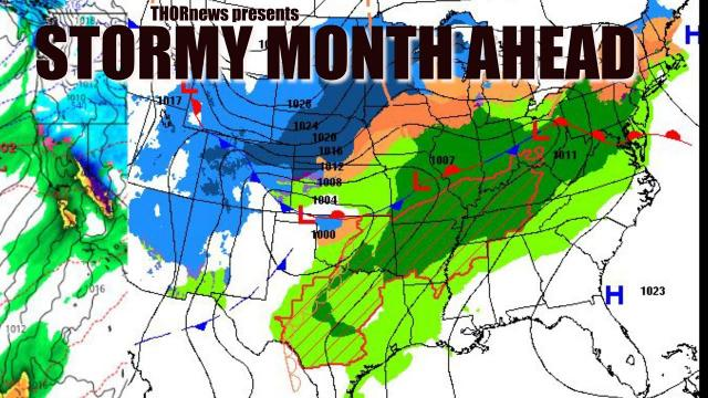 Stormy Month Ahead USA & Possible Big West Coast problems