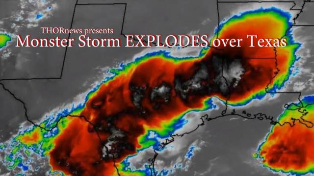 Red Alert! MONSTER Storm EXPLODING over Texas right now & through the Night